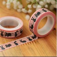 """Lapin"" - Jolie masking tape rouge"