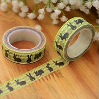 """""""Lapin"""" - Jolie masking tape verte"""