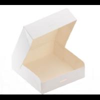 """""""Carré"""" - Boite carton blanc 20cm {2 épaisseurs}"""