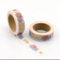 """""""Hello"""" - Masking tape dorée"""