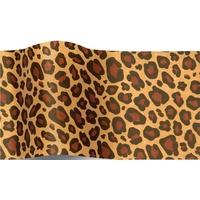 """""""Animal"""" - 5 feuilles de papier de soie léopard"""