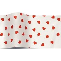 """""""Love"""" - 5 feuilles de papier de soie avec des coeurs"""