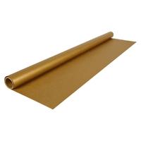 """""""Cadeau"""" - Rouleau de papier kraft doré"""