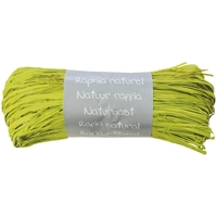 """Pelote"" - Raphia naturel vert pomme"