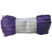 """""""Pelote"""" - Raphia naturel violet"""