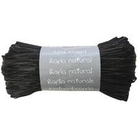 """""""Pelote"""" - Raphia naturel noir"""