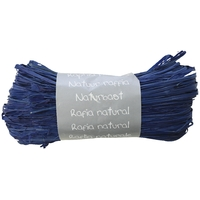 """Pelote"" - Raphia naturel bleu marine"