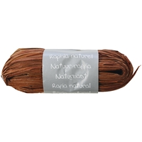 """Pelote"" - Raphia naturel marron"
