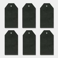 """""""Noir"""" - 6 très grandes étiquettes épaisses"""