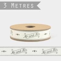 """Mr&Mrs"" - 3m de ruban mariage"