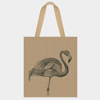 """Shopping bag"" - Grand sac en jute flamingo"