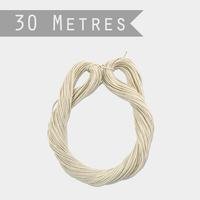 """""""Lien"""" - 30m de ficelle en papier blanc"""