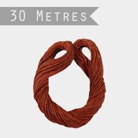 """""""Lien"""" - 30m de ficelle en papier rouge"""