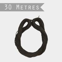 """""""Lien"""" - 30m de ficelle en papier noir"""