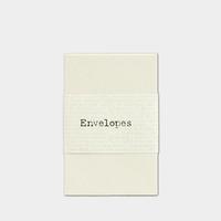 """""""Crème"""" - 20 petites enveloppes papier"""