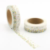 """Fleurs"" - Masking tape dorée"