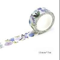 """""""Blue"""" - Masking tape avec des fleurs"""