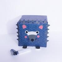 """""""Rouleau"""" - Papier cadeau bleu avec des confettis"""