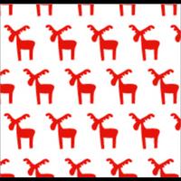 """""""Rouleau"""" - Papier cellophane avec des rennes"""