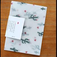 """""""Cactus"""" - 3 enveloppes translucides"""
