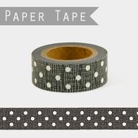 """""""DIY"""" - Masking tape noire à pois"""