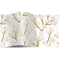 """Sakura"" - 5 feuilles de papier de soie cerisier"