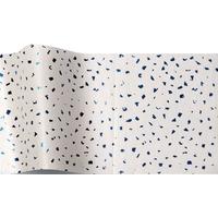 """""""Bleu"""" - 5 feuilles de papier de soie blanc avec éclats brillants"""
