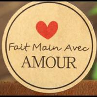 """100 stickers """"Fait main avec amour"""""""