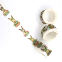"""Easter"" - Masking tape avec des lapins"