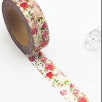 """""""Shabby"""" - Masking tape avec des roses"""