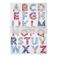 """Alphabet"" - 10 planches de stickers liberty"