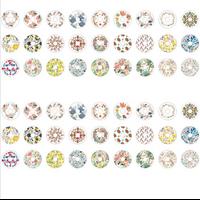 """""""Spring"""" - 60 oeillets avec des fleurs"""