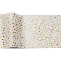 """""""Or"""" - 5 feuilles de papier de soie blanc avec éclats dorés"""