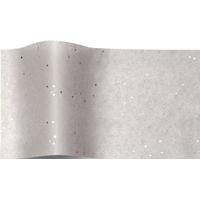 """""""Diamant"""" - 5 feuilles de papier de soie gris et paillettes"""