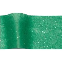 """""""Emeraude"""" - 5 feuilles de papier de soie vert et paillettes"""