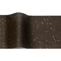 """""""Diamant"""" - 5 feuilles de papier de soie noir et paillettes"""