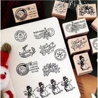 """Christmas"" - Tampon Noël {8 motifs}"