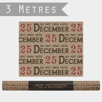 """""""Rouleau"""" - 3m de papier cadeau Noël"""