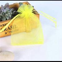 """Organza"" - 25 pochettes jaune citron"