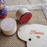 """Thanks"" - Joli petit tampon MERCI"