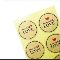 100 stickers pour création artisanale {rouge}