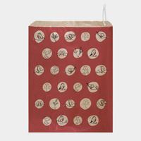 """""""Robin"""" - 10 grandes pochettes en papier rouge"""