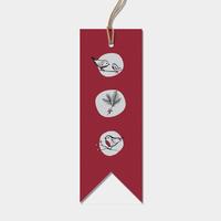 """""""Robin"""" - 6 jolies étiquettes rouges très épaisses"""