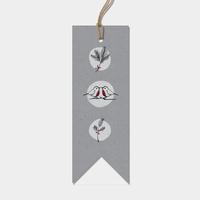 """""""Robin"""" - 6 jolies étiquettes grises très épaisses"""