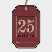 """""""25 décembre"""" - 6 grandes étiquettes épaisses"""