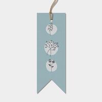 """Tag"" - 6 jolies étiquettes fleuries"