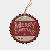 """""""Vintage"""" - 6 étiquettes cadeaux pour Noël"""