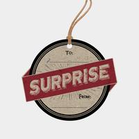 """""""Surprise"""" - 6 étiquettes cadeaux très rigides"""