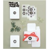 """""""Blanc"""" - 24 boites pour calendrier de l'Avent"""