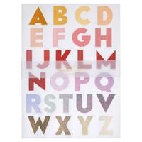 """""""Alphabet"""" - 10 planches de grandes lettres pastel et paillettes"""